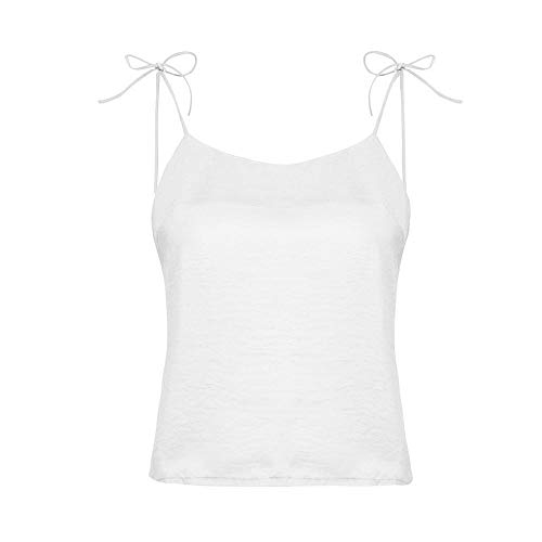 Verano Vendaje Color Mujer Tirantes Fiesta Elegantes Puro Sexy Sin Para Tops Vestir Blanco Holatee Chaleco Moda Camisetas Manga Blusas dXZtxBwv
