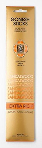 Sandalwood GOXRSA Gonesh Stick Incense, Single 20-stick pack - incensecentral.us