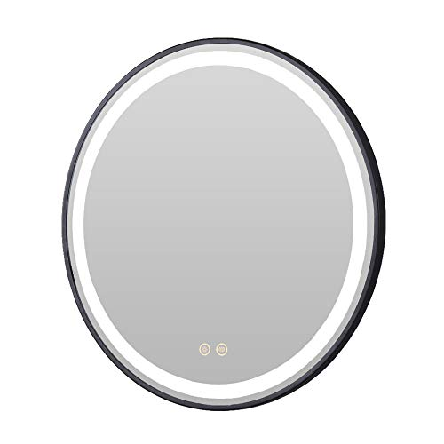 Petus House LED Bathroom Vanity Mirrors, Diameter 24in Smart Bathroom Wall Mount -