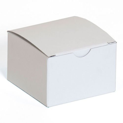 Count of 100 New or Retail White Finish Gift box Measures 3''x3''x2''