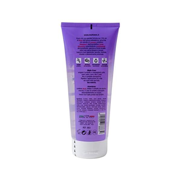 IPEA Gel Igienizzante Detergente Profumato Per Mani Multiskin Flacone Portatile Con Soluzione Antibatterica 74% Alcool - Fragranza, Lavanda, 200 Millilitro 2 spesavip