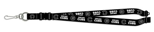 Pro Specialties Group Chicago Cubs BLACKOUT VERSION Deluxe 2-sided Lanyard Breakaway Baseball