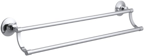(Kohler K-11053-CP Archer Double Towel Bar, Polished Chrome)