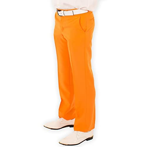 Hot Festified Men's Classic Party Pants In Orange