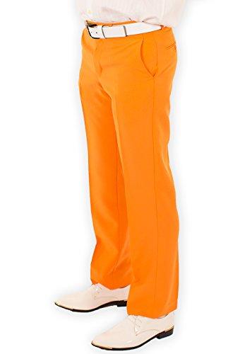Festified Men's Classic Party Pants In Orange (32) by Festified