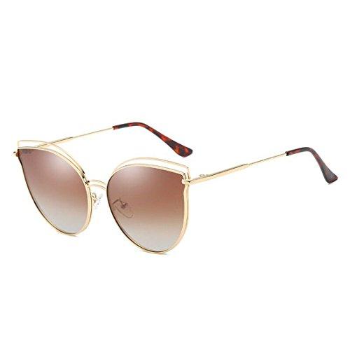 de Sol Gafas de B Gato Sol Gafas F Espejo Ojos Moda de Las GCC de twxqXH8f8Z