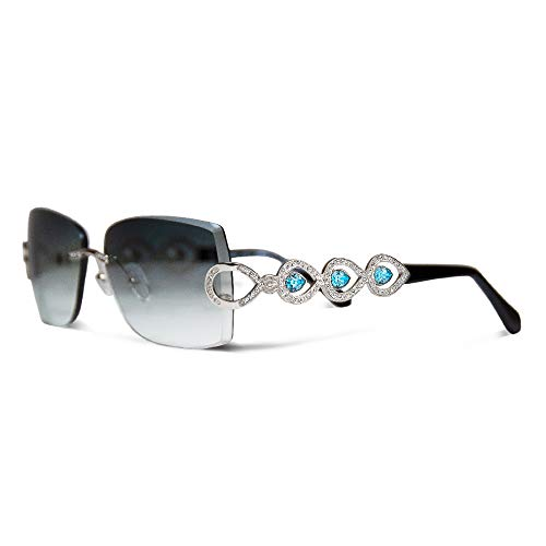- Siraya Illuminate Palladium Black Jewelry Sunglasses embellished with Swarovski Crystals