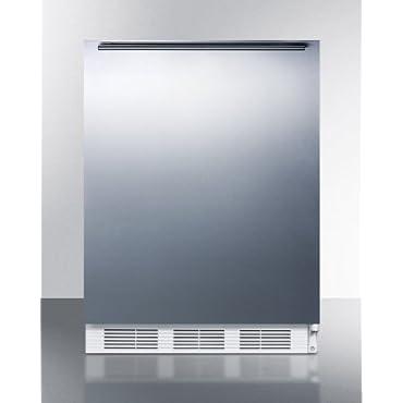 Summit CT661BISSHHADA Built-In Undercounter Refrigerator / Freezer, White