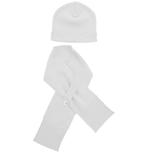 Merino Kids Merino Hat & Scarf, Light Grey, For Babies and Toddlers by Merino Kids