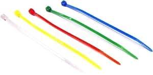 Cablematic - Bridas de nailon de colores varios en blister de 200 unidades