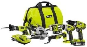 Ryobi 18-Volt ONE Lithium-Ion Ultimate Combo Power Tool Kit 6-Tool – Model P884 by Ryobi