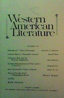Western American Literature, (November, 1974), Vol. IX, No. 3