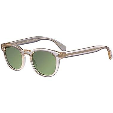 48bb9f4fd9b7 Oliver Peoples Unisex Sheldrake Sun Buff Green Vintage
