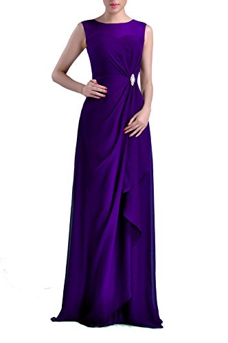 Bateau Women's Adorona Chiffon Sleeveless Straps Dress Long Sheath Lapis Natrual nI1C6q1