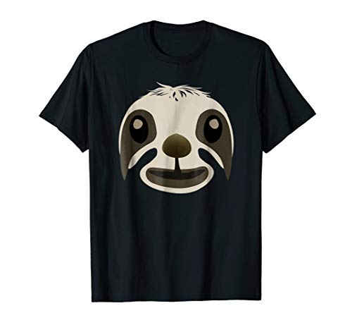 Sloth Face T-Shirt Funny Cute Animal Halloween Costume Gift