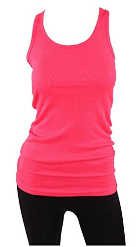 Sofra Womens Cotton Ribbed Workout