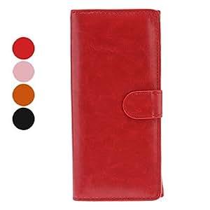 compra Monedero del cuero del estilo de la PU con la ranura para tarjeta para móviles Samsung (grandes, colores surtidos) , Rojo