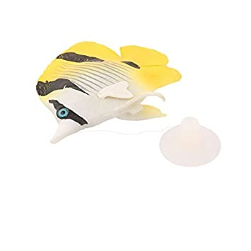DealMux peces de acuario tanque artificial brillante efecto de Tropical Sea Fish Animal Decoración Amarillo: Amazon.es: Productos para mascotas