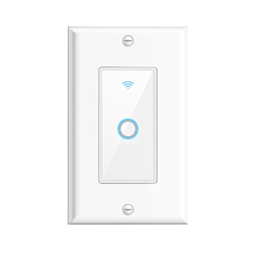 Oittm Smart Wi-Fi Wall Switch Touch Switch Panel Remote Control Lights Compatible with Alexa, Google Home