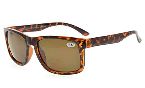 Eyekepper Polycarbonate Polarized Bifocal Sunglasses (DEMI Frame Brown Lens Frame, - Price Sunglasses Polarized