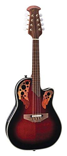 Ovation Mandolin - Ovation MCS148 Acoustic-electric Mandolin, Red Ruby Burst