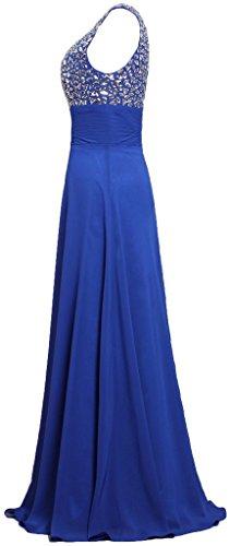 Fourmis Réservoir Bretelles Femmes Longues Robes De Soirée Perles Robe De Bal Bleu Sarcelle