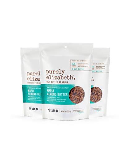purely elizabeth Non GMO Organic Maple Almond Nut Butter Granola, 10 Ounce (pack of 3)