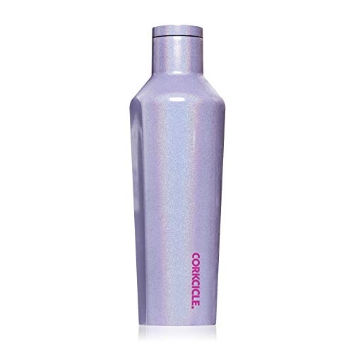 Corkcicle Canteen Classic Collection - Water Bottle & Thermos - Triple Insulated Shatterproof Stainless Steel, Sparkle Pixie Dust, 16 oz