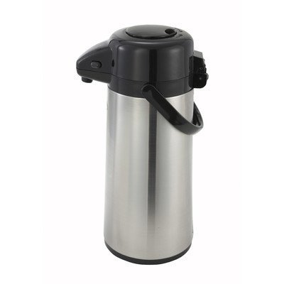 Winco 2.5 Liter Glass Lined Airpot, Push Button by Winco