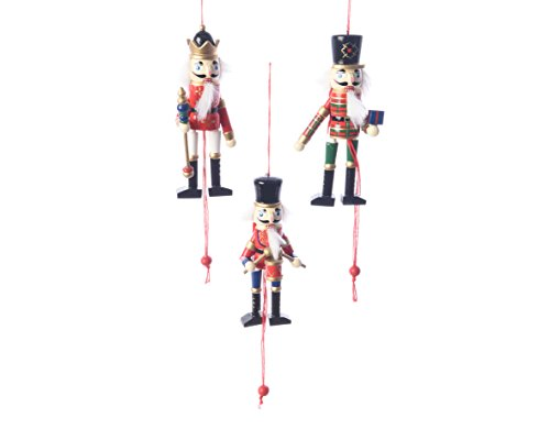 (Really Nice Traditional Wooden Christmas Nutcracker Soldier Decoration/Christmas Tree Decoration/Pull Puppet Toy - Set of)