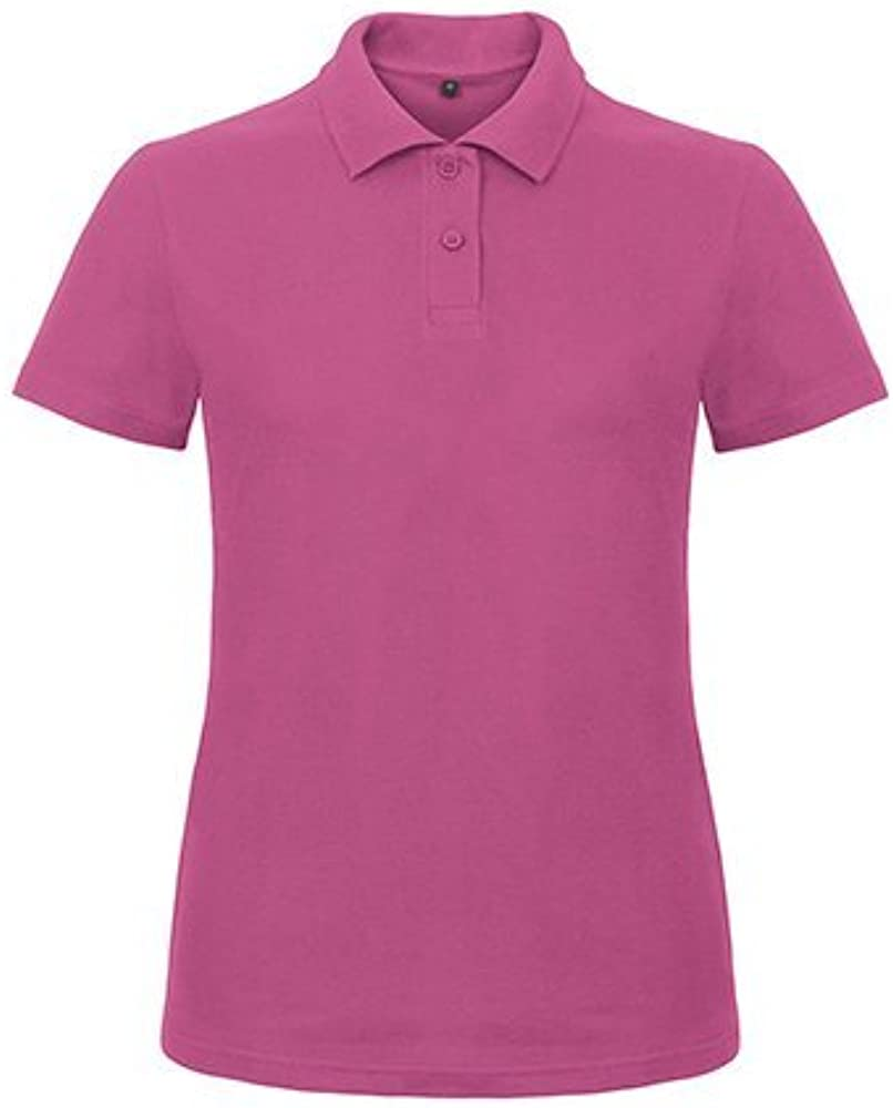 B C& ID.001 Women-Ladies Polo-Shirt PWI11 cuadros Morado morado ...