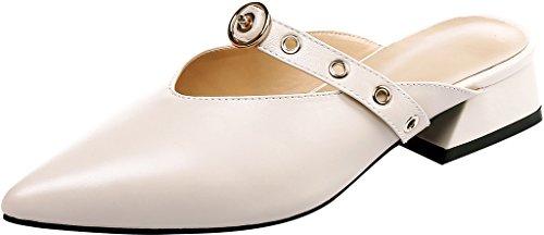 sur 3 5CM Chaussures Mules Bloc Catruly Femme Beige Glisser Calaier et Sabots qEtHYc
