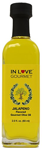 Jalapeno Natural Flavor Infused Olive Oil 60ML/2oz By In Love Gourmet