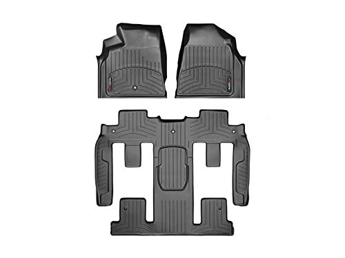 WeatherTech Custom Fit FloorLiner - 442511-449423 - 1st Row, 1-Piece 2nd/3rd Row (Black) (For Floor Buick Mats Weathertech)