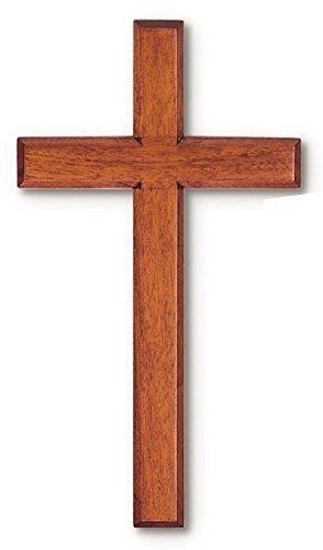 Solid Mahogany Wood Wall Cross (10'')