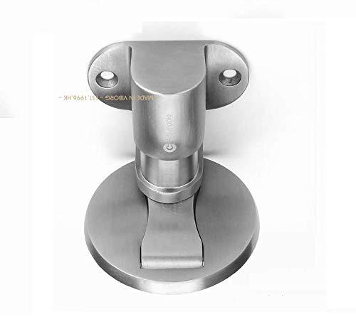 VIBORG Deluxe Solid SUS304 Stainless Steel Casting Adjustable Floor Mount Mounted Magnetic Door Stopper Doorstop Door Stop, RS-40F (1)
