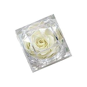 Little-Lucky Eternal Rose Ring Box Multicolor Everlasting Imitation Valentine's Day, Wedding, Home Flower Cuboid Ring Box 52