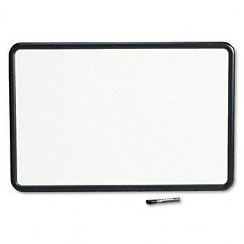 GBC Contour Dry-Erase Board, Melamine, 36 x 24, White, Gray Frame Quartet Binding