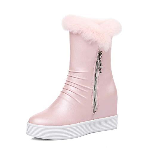 965534386acab De Doublée De l'eau Neige Pull Rose Grip Bottines Bottes Toison Pink Femmes  Courtes Chaud Hiver ...