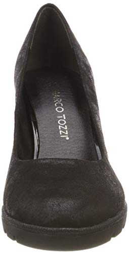 21 033 Noir Black 2 2 Metallic 22456 Marco 033 Tozzi Escarpins Femme 76SqnT