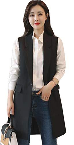 トムオードリース肌寒い反対にAlhyla レディース ダウン ベスト 秋 冬 スリム ベスト ノースリーブ 一つボタン ダウンベスト ロングベスト 中綿 無地 スカジャン コート 韓国ファッション ベスト