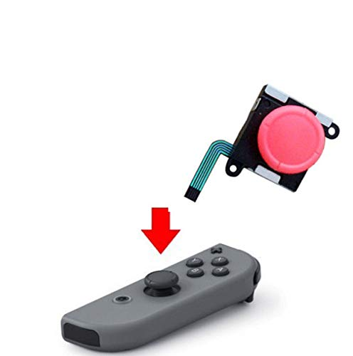 Analog 3D Thumbstick Stick Joystick for Nintendo Switch NS Joy-Con Controller Red