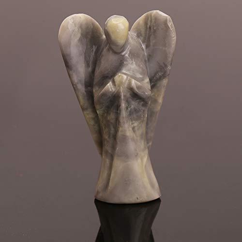 - Natural Crystal Serpentine Angel Gemstone Pocket Guardian Healing Carving Figurine 2 Inch