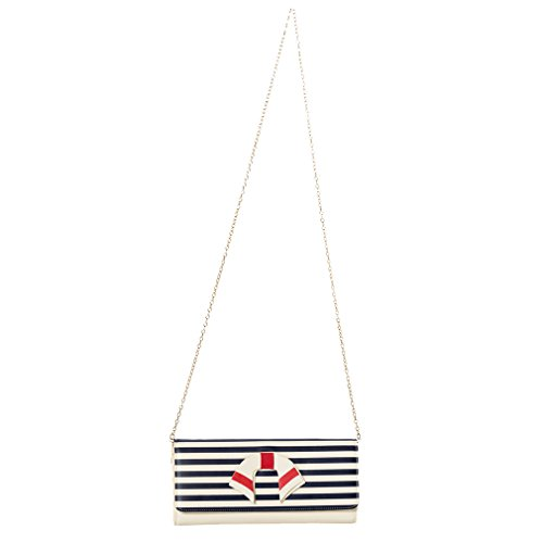 Blanc Clutch Dancing Nautical Pochette Days Vintage wxWqOBz