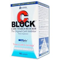 Absolute Nutrition CBlock Carb/Starch Blocker,  90 Caplets, (Pack of 2) For Sale