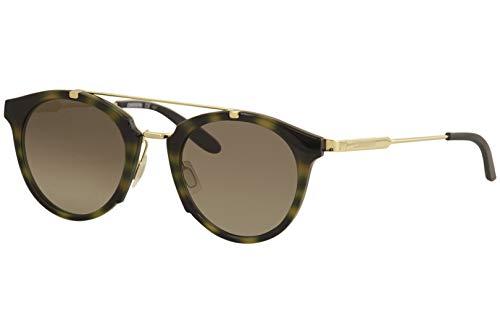 Carrera Men's Ca126s Round Sunglasses, Yellow Havana Gold/Brown Gradient, 49 ()