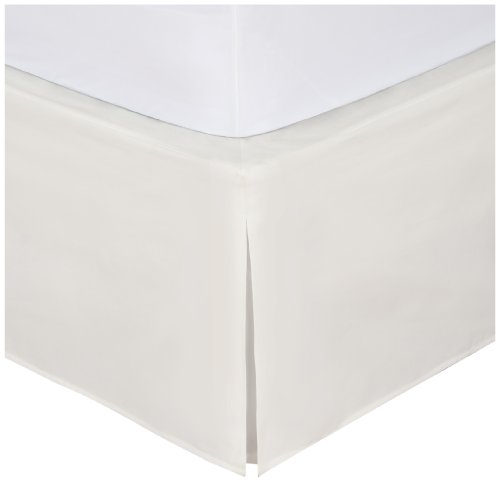 "Bedskirt, Never Lift Your Mattress, Classic 14"" drop length, Pleated Styling, California King, Ivory ()"