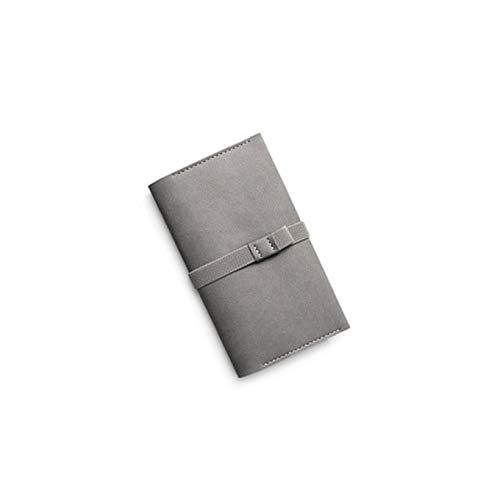 LEEQ Cuaderno de Piel Gruesa con Banda elástica para bolígrafos, para Escuela, Viaje, Oficina, Regalo