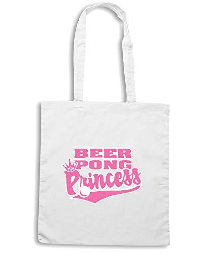 Shopper Borsa Speed BEER0024 Bianca Shirt PONG PRINCESS BEER 5EwFqAw