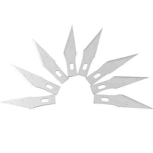 SODIAL 200 Piezas Cuchilla de Afici/óN de Repuesto Cuchillas de Repuesto Hojas de Cuchillo de Artesan/íA de Acero para Cortar Obras de Arte DIY